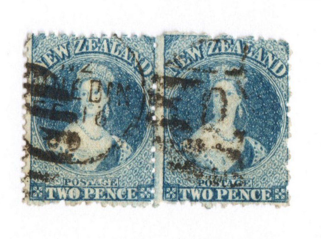 NEW ZEALAND 1862 Full Face Queen 2d Blue. Perf 12½. Watermark Large Star. Identified by vendor as SG 115. Evidence of plate wear image 0