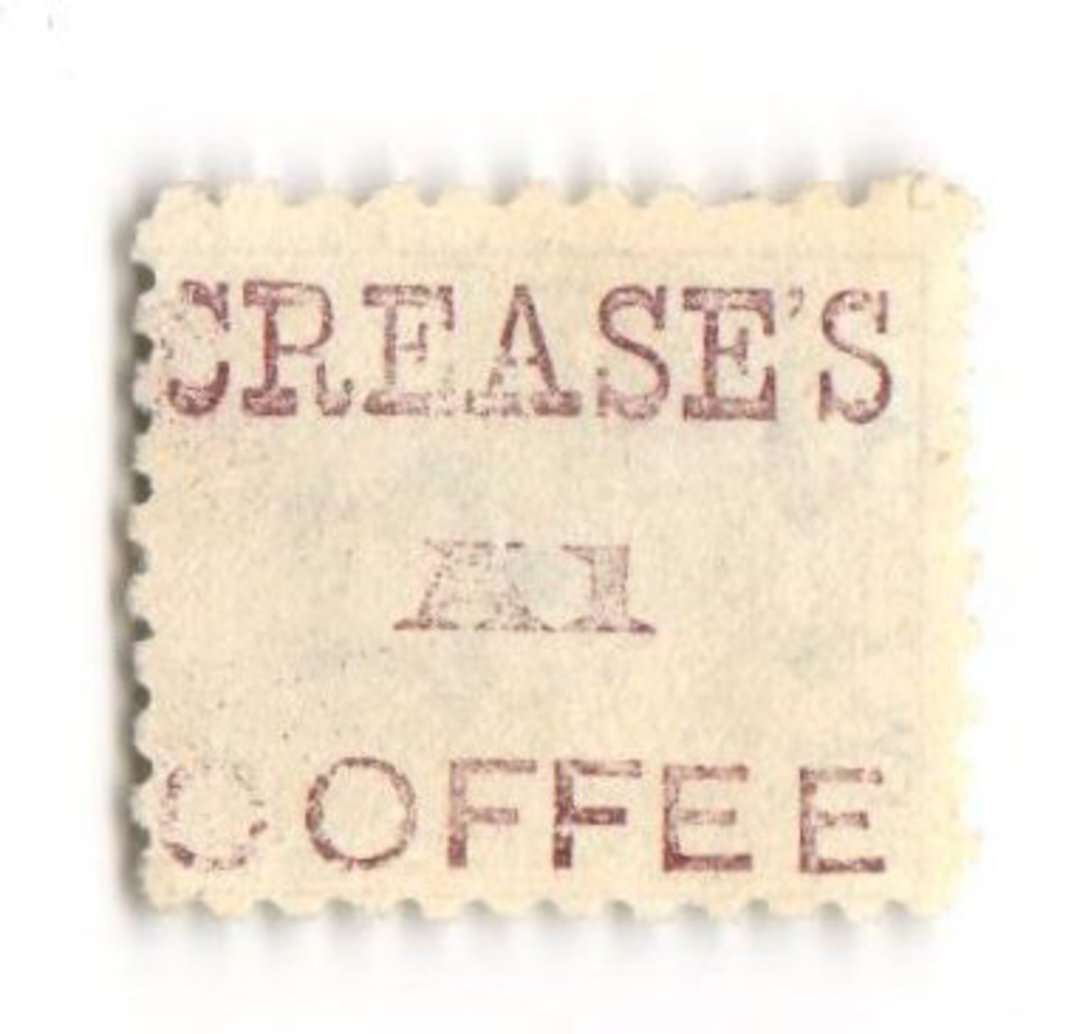 NEW ZEALAND 1882 Victoria 1st Second Sideface 4d Green. Crease's A1 Coffee. Perf 10. In mauve. - 3978 - FU image 0