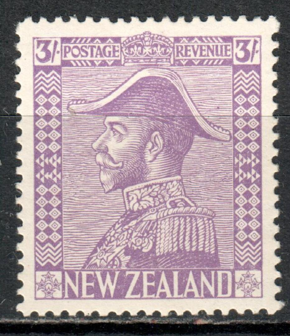 NEW ZEALAND 1926 Geo 5th Admiral 3/- Purple. - 71398 - LHM image 0