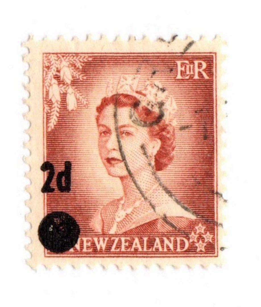 NEW ZEALAND 1958 Elizabeth 2nd 2d Brown Stars Error. - 74698 - VFU image 0