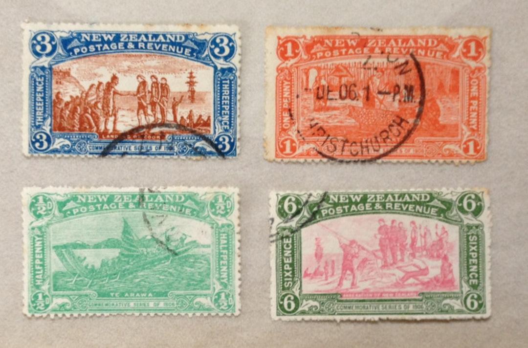 NEW ZEALAND 1906 Christchurch Exhibition. Set of 4. - 24058 - VFU image 0