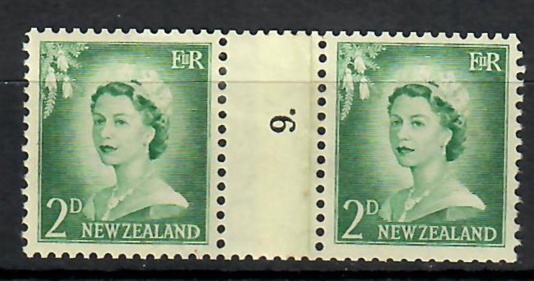 NEW ZEALAND Elizabeth 2nd  2d Coil.  Number 9 - 70491 - UHM image 0