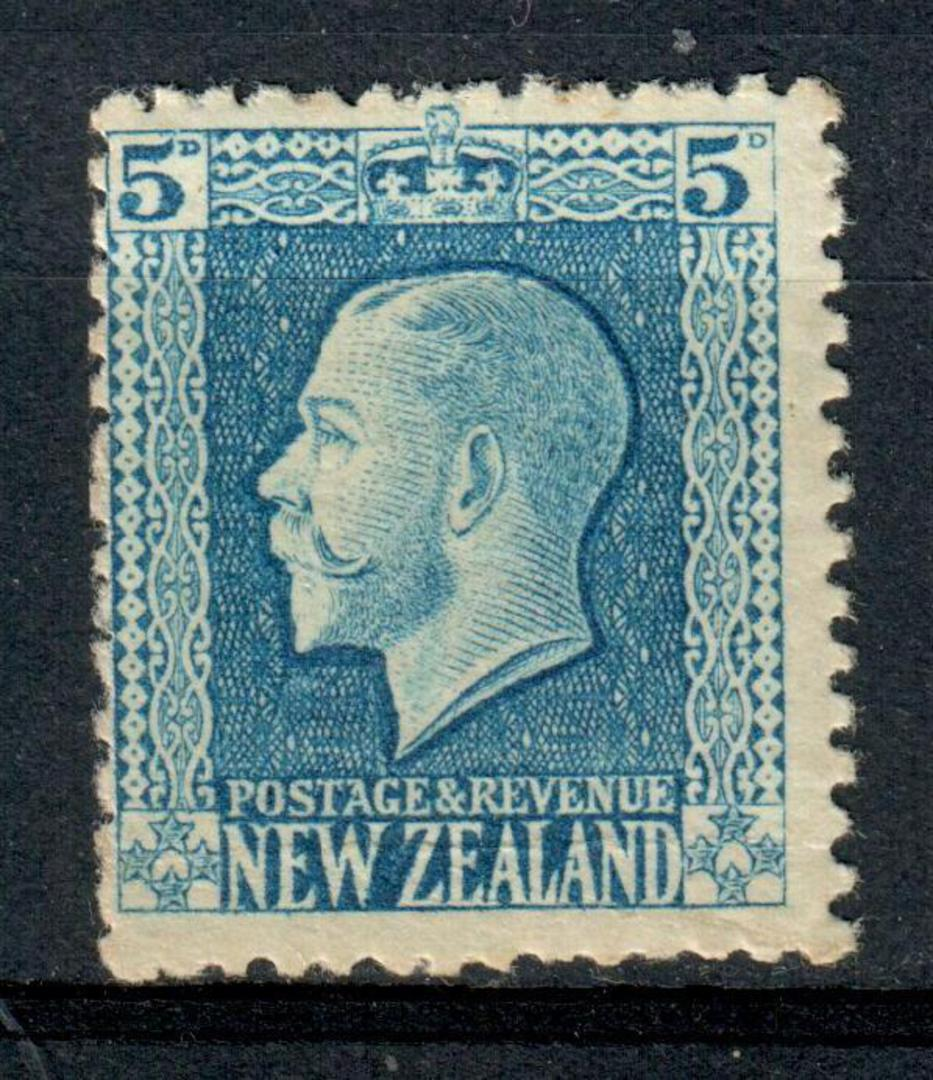 NEW ZEALAND 1915 Geo 5th Definitive 5d Blue. - 104 - UHM image 0