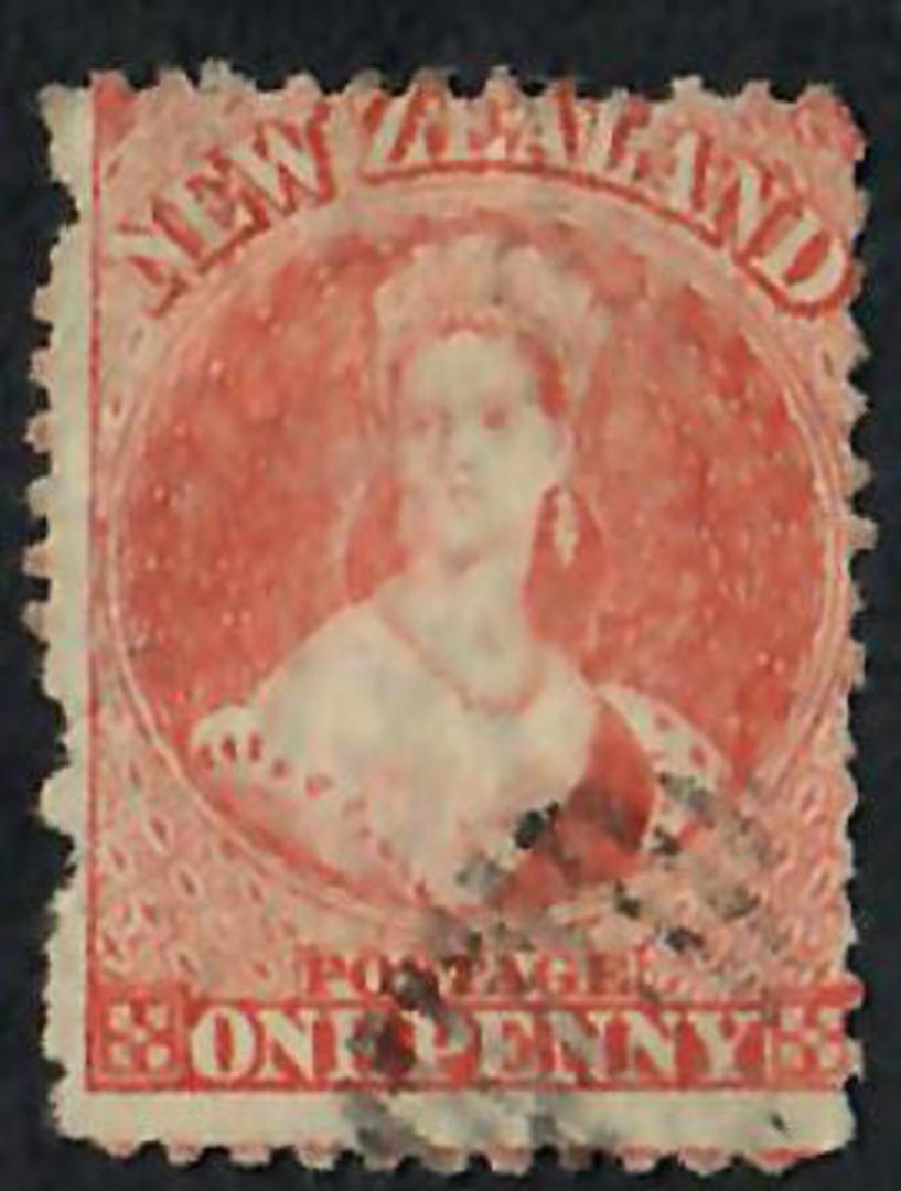NEW ZEALAND 1862 Full Face Queen 1d Orange. Perf 12½. Very nice copy. CP $150 - 60090 - FU image 0