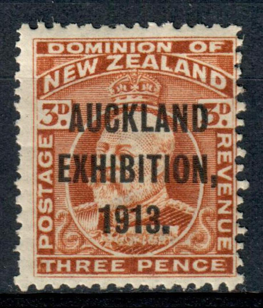 NEW ZEALAND 1913 Auckland Exhibition 3d Brown. - 3656 - LHM image 0