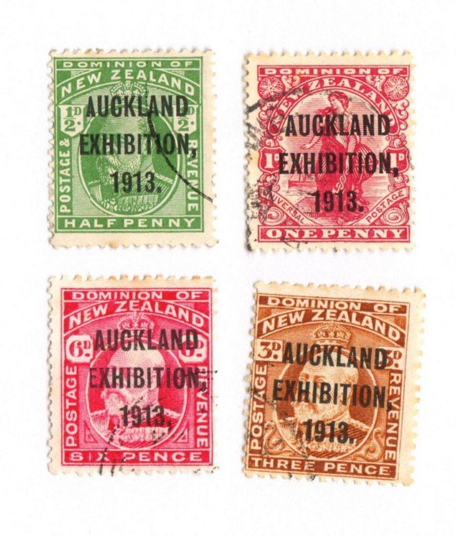 NEW ZEALAND 1913 Auckland Exhibition. Set of 4. - 74057 - FU image 0