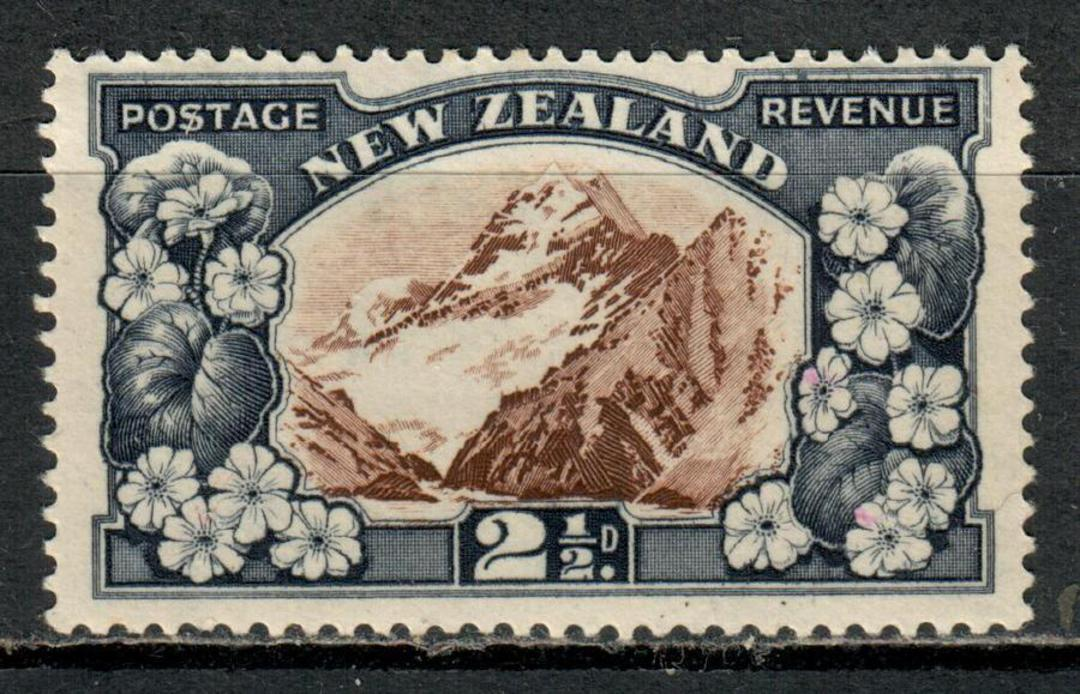 NEW ZEALAND 1935 Pictorial 2½d Chocolate and Blue-Slate. Multiple watermark. Perf 14-13x13½. - 4165 - UHM image 0