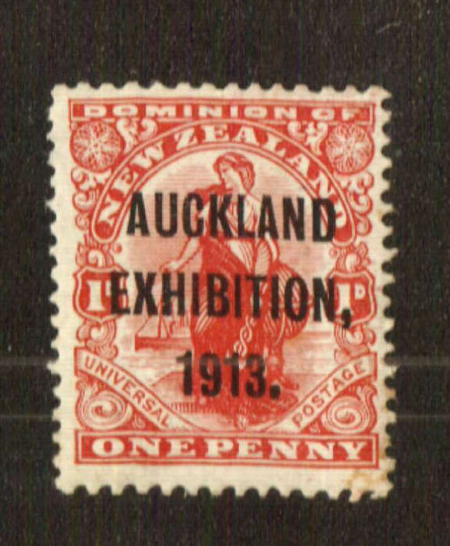 NEW ZEALAND 1913 Auckland Exhibition 1d. Centred slightly north east. - 71308 - LHM image 0