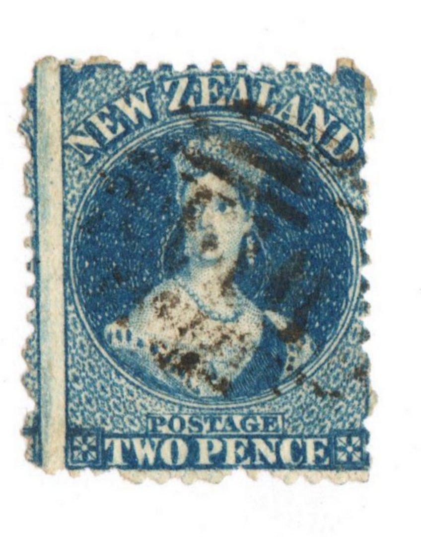 NEW ZEALAND 1862 Full Face Queen 2d Deep Royal Blue. Perf 12½. Watermark Large Star. Identified by vendor as SG 114. - 74006 - U image 0