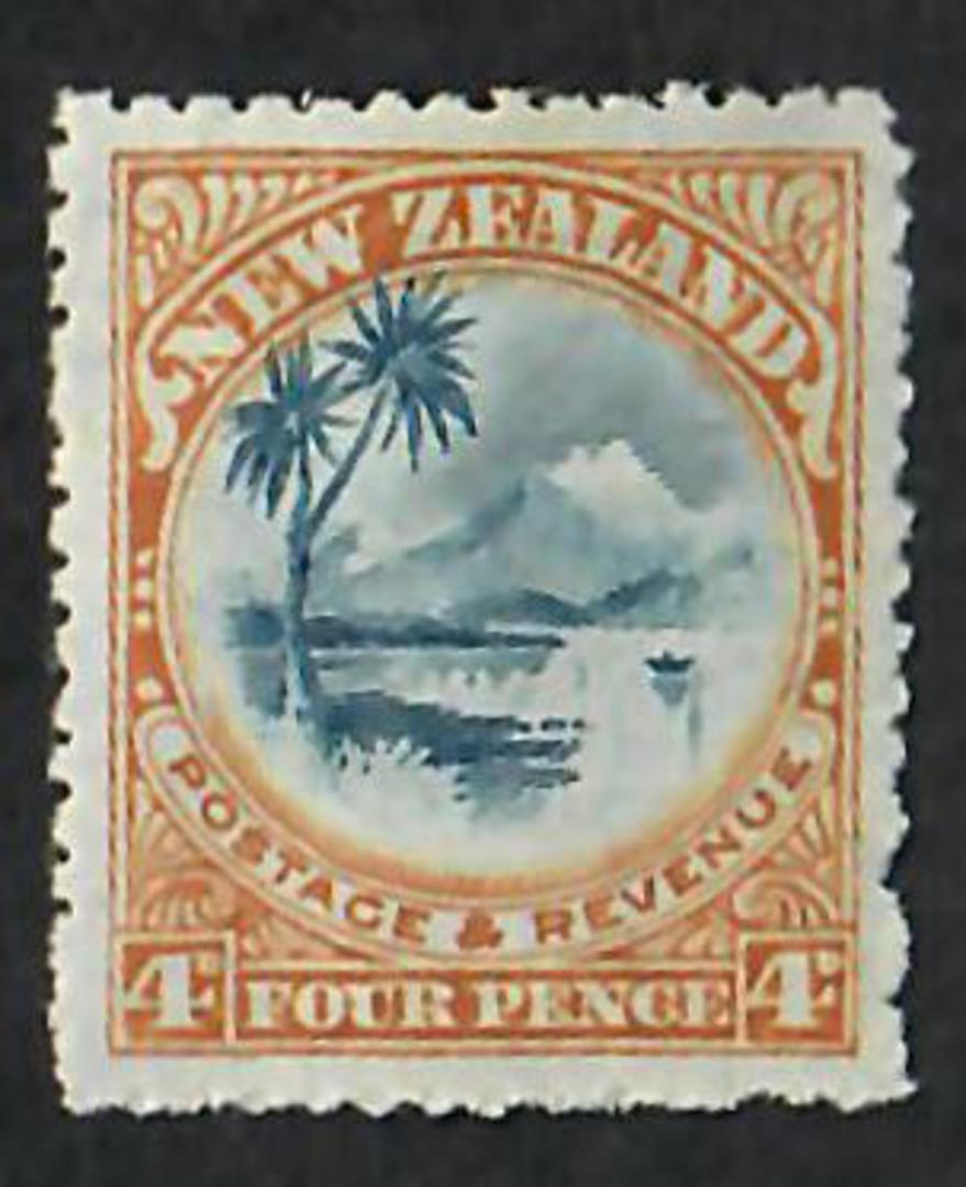NEW ZEALAND 1898 Pictorial 4d Lake Taupo. - 59 - LHM image 0