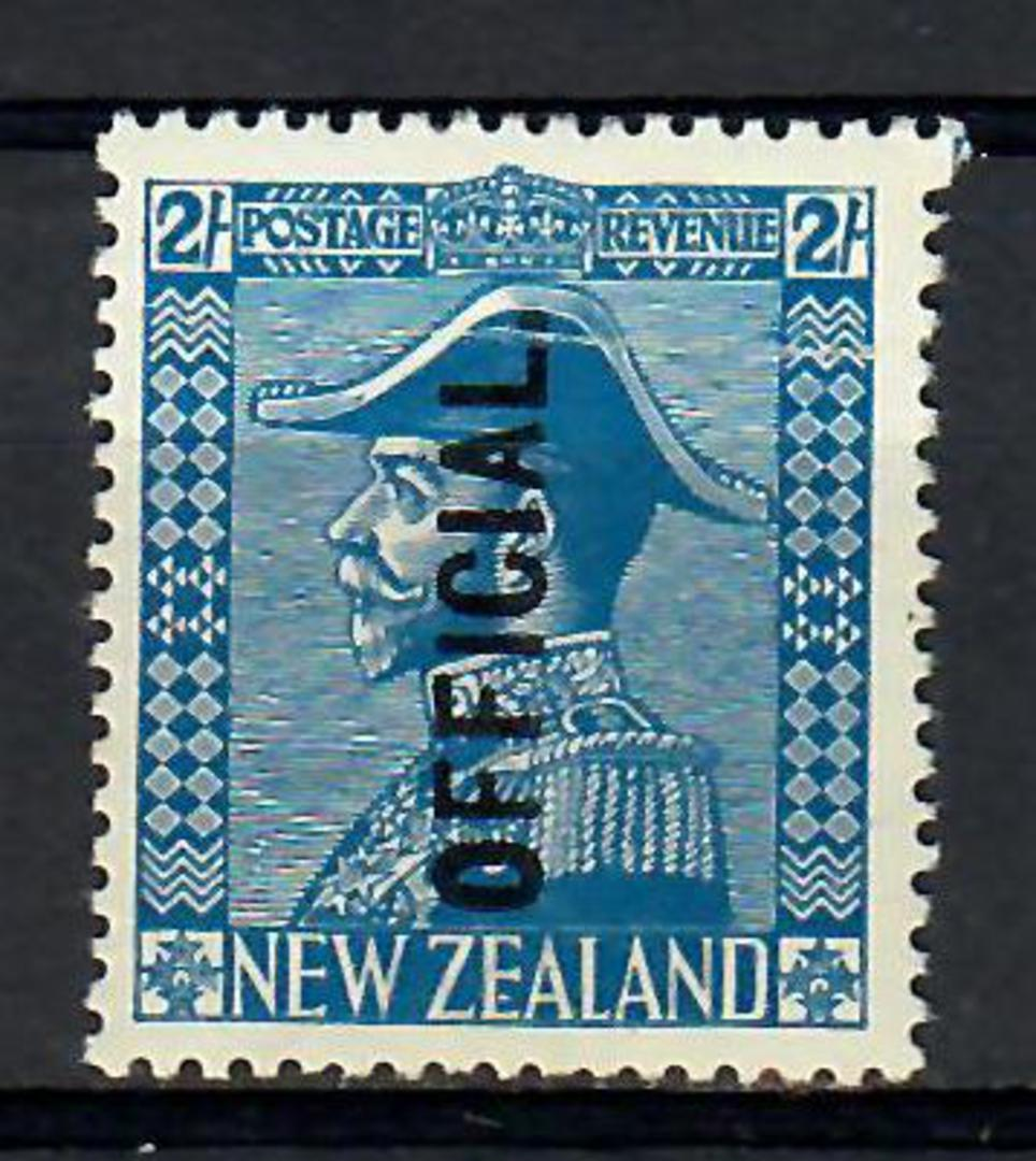 NEW ZEALAND 1926 Geo 5th Official 2/- Deep Blue. Slight gum crease. Well centred. - 74168 - LHM image 0