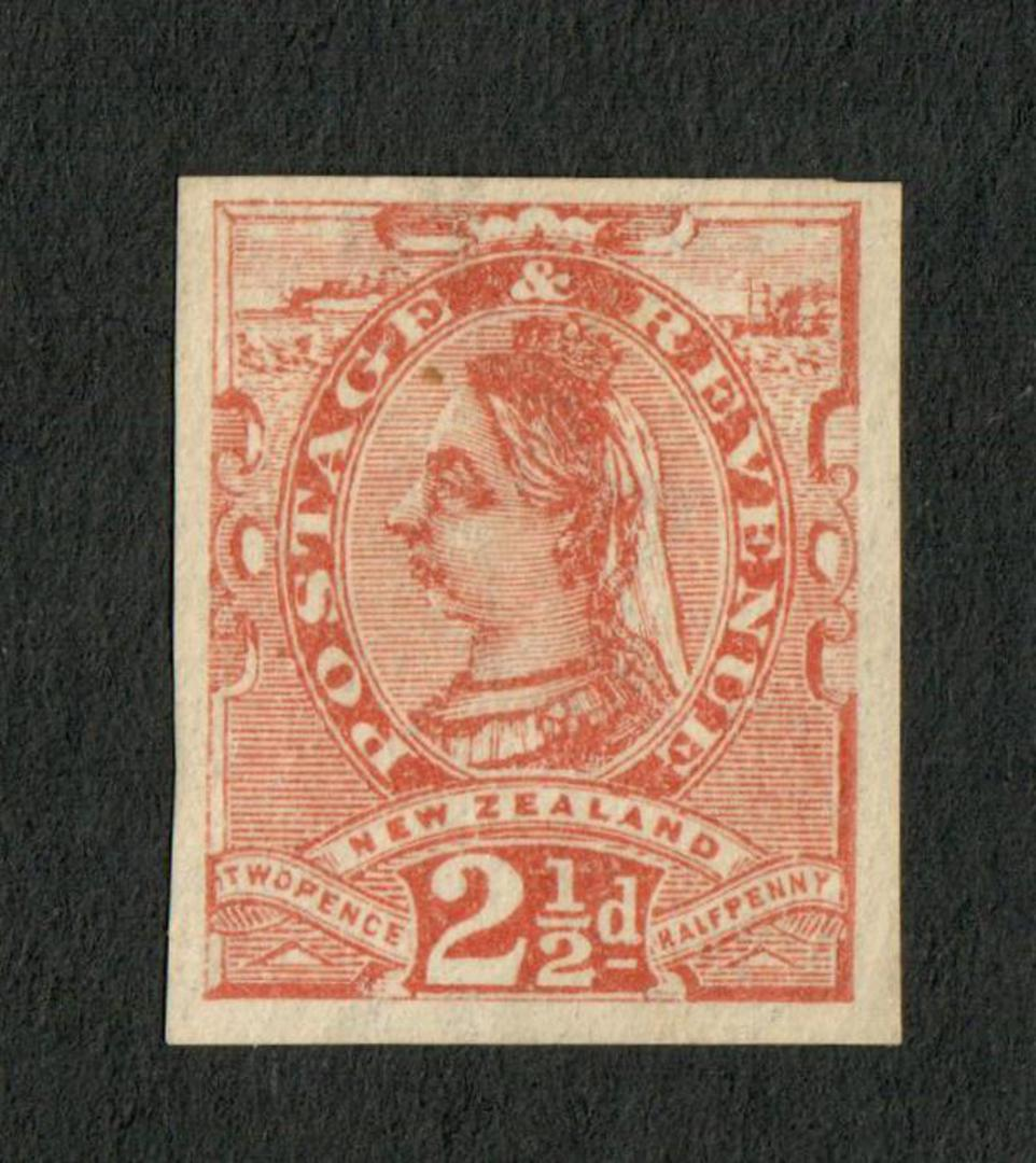 NEW ZEALAND 1882 Second Sideface 2½d Brown. Proof. - 71316 - Proof image 0