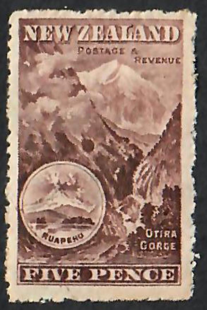 NEW ZEALAND 1898 Pictorial 5d Otira. - 44 - Mint image 0