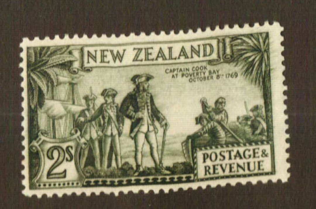 NEW ZEALAND 1935 Pictorial 2/- Captain Cook. Perf 13.75 x 13.5. - 74773 - UHM image 0