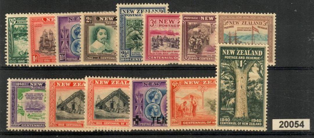 NEW ZEALAND 1940 Centennial. Set of 14. - 20667 - UHM image 0