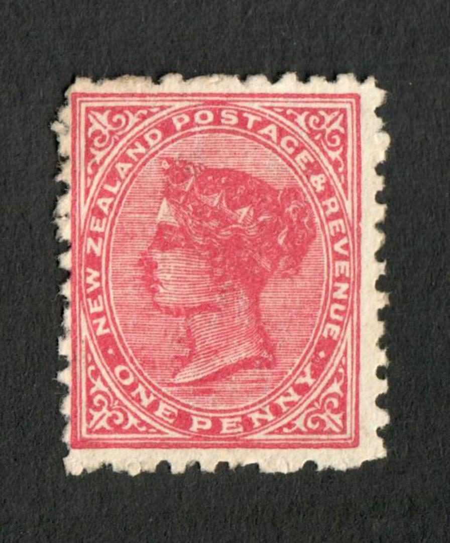 NEW ZEALAND 1882 Second Sideface 1d Deep Carmine. Rotary Perf 11. - 4216 - MNG image 0