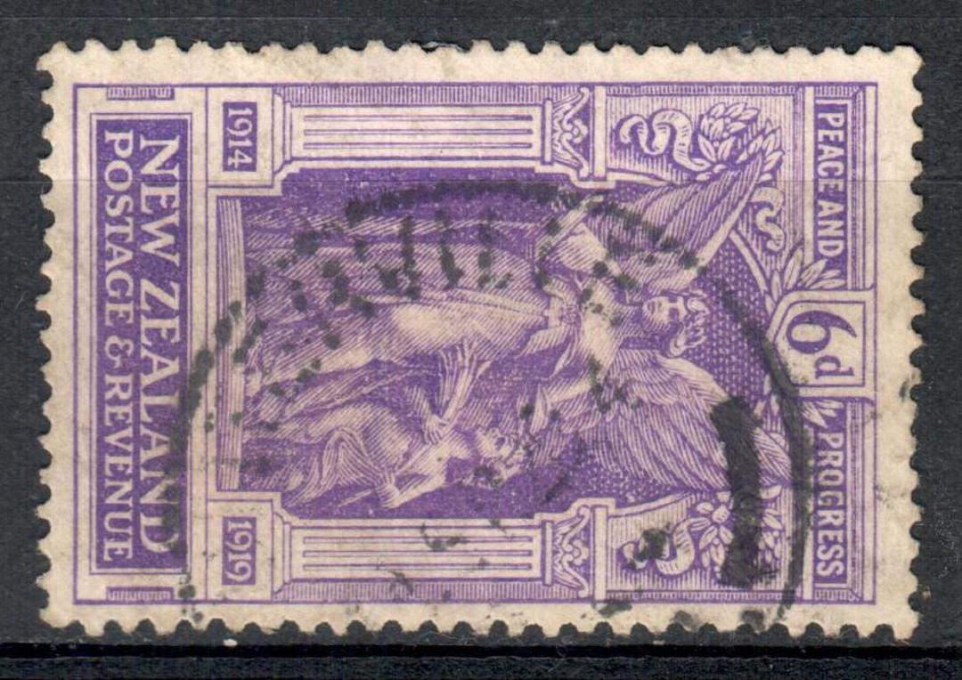 NEW ZEALAND 1920 Victory 6d Purple. - 10135 - FU image 0