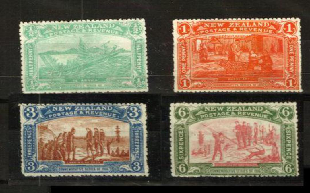 NEW ZEALAND 1906 Christchurch Exhibition. Set of 4. The 3d and 6d are very lightly hinged. - 24010 - LHM image 0