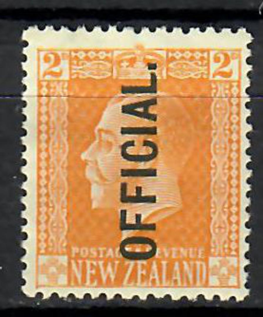 NEW ZEALAND 1915 Geo 5th Official 2d Yellow. Surface. Gum disturbance. - 70647 - Mint image 0