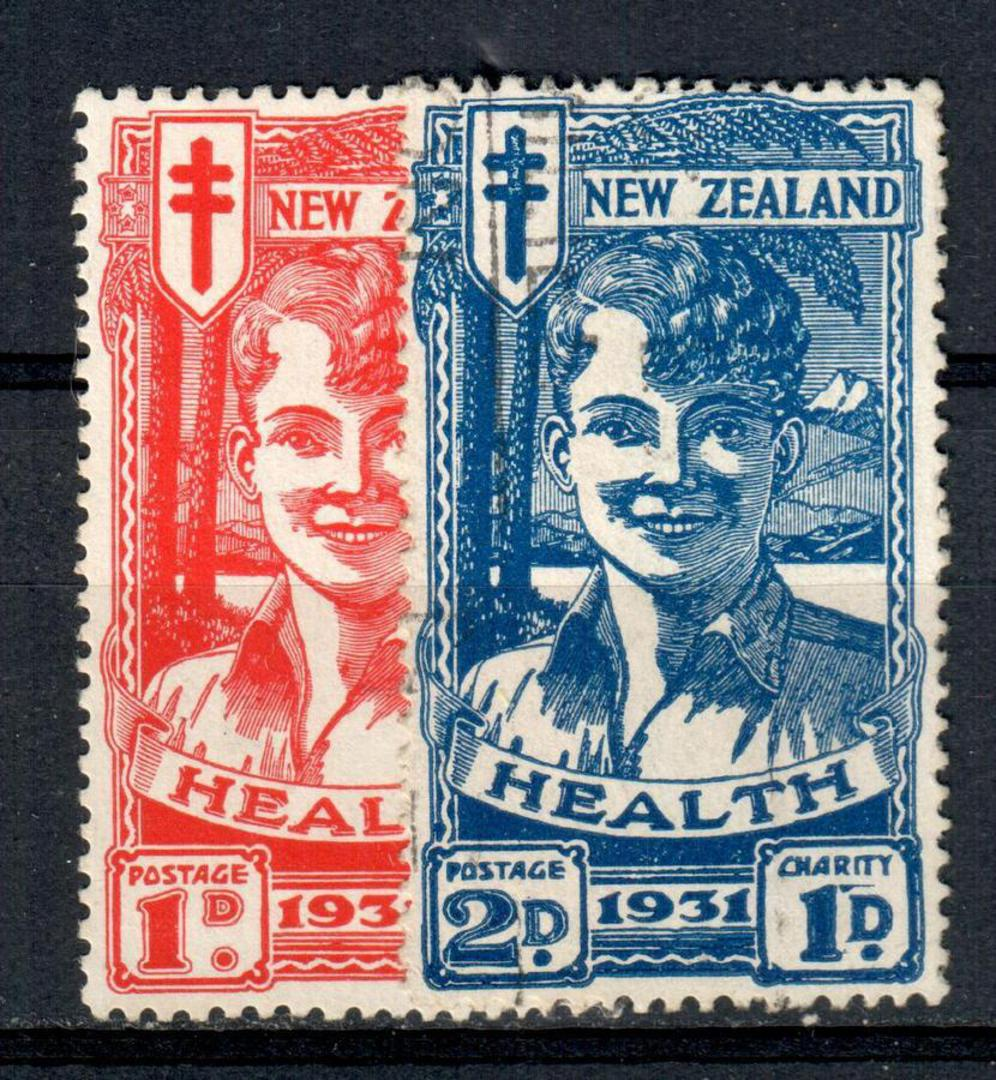 NEW ZEALAND 1931 Health Red and Blue Boy. - 19331 - VFU image 0