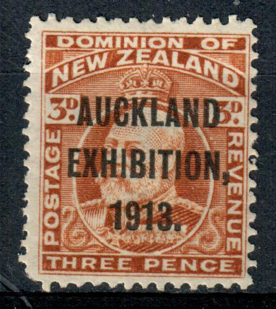 NEW ZEALAND 1913 Auckland Exhibition 3d Brown. One corner perf missing. - 3654 - Mint image 0