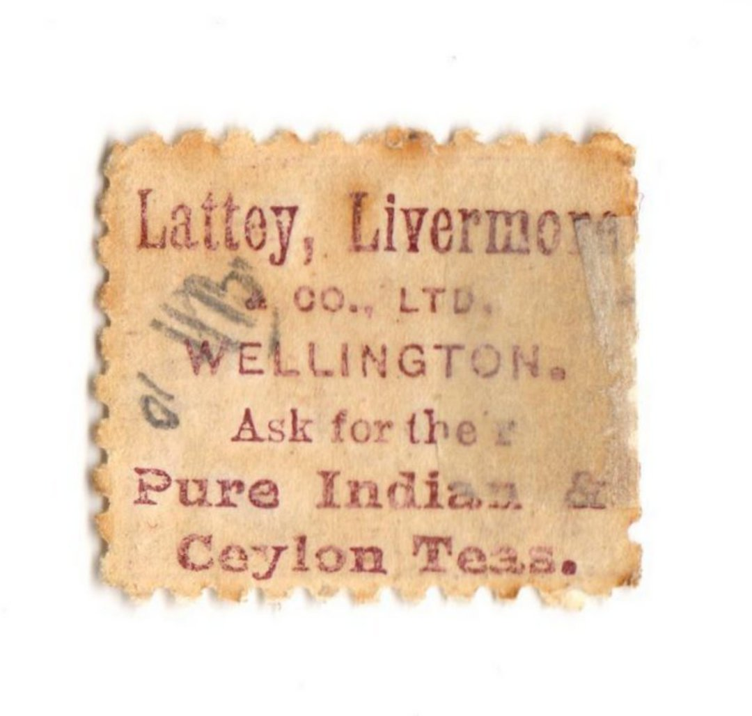 NEW ZEALAND 1882 Victoria 1st Second Sideface 2d Purple. Perf 10. Advert 3rd setting in lilac. Lattey Livermore. - 75183 - Mint image 0