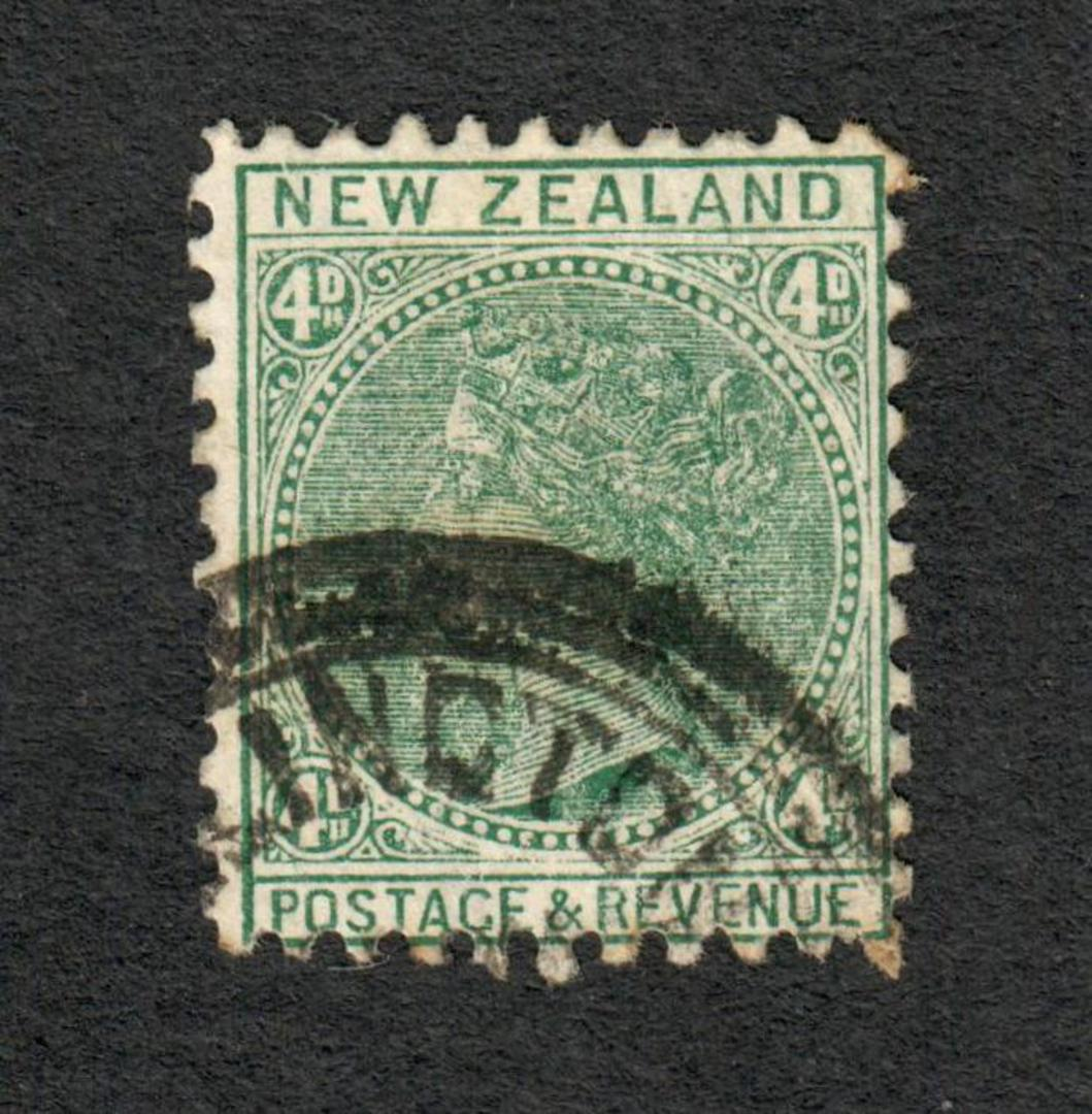 NEW ZEALAND 1882 Victoria 1st Second Sideface 4d Green. - 10032 - FU image 0