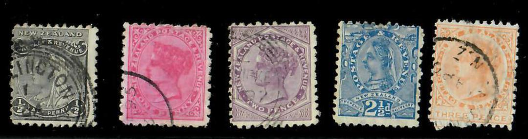 NEW ZEALAND 1882 Victoria 1st Second Sidefaces. Set of 10. Excellent copies. - 20650 - FU image 0