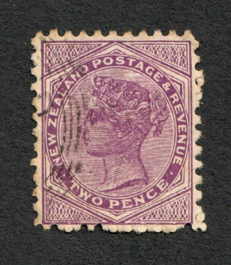 NEW ZEALAND 1882 Victoria 1st Second Sideface 2d Purple. - 10029 - FU image 0