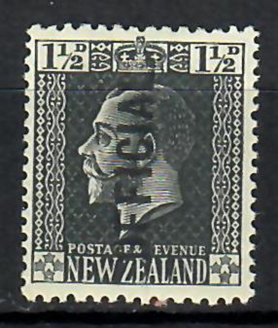 NEW ZEALAND 1915 Geo 5th Official 1½d Grey. Surface. - 70646 - LHM image 0