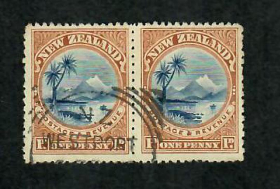 NEW ZEALAND 1898 Pictorial 1d Taupo. London Print. Nice pair. - 71287 - VFU image 0