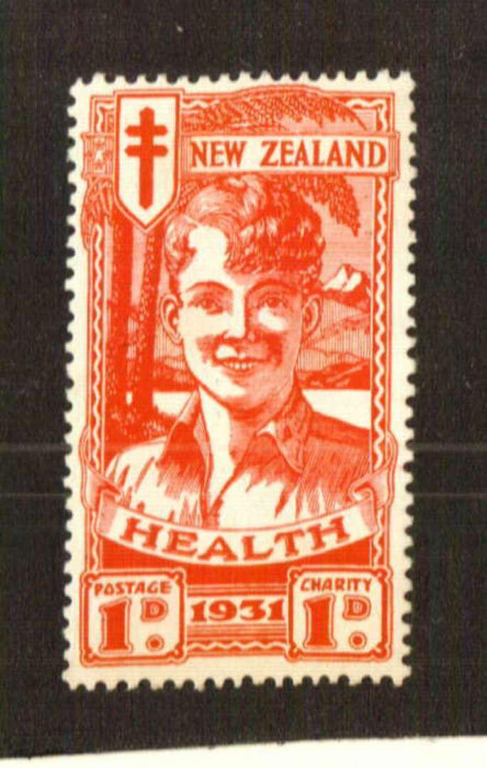 NEW ZEALAND 1931 Red Boy. Gum toning. - 70734 - UHM image 0
