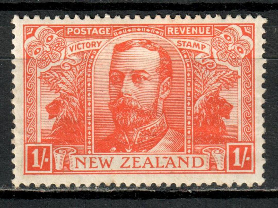 NEW ZEALAND 1920 Victory 1/- Orange. - 3531 - Mint image 0