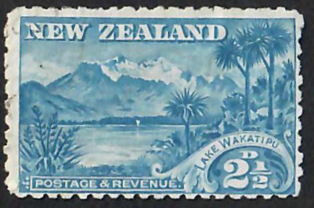 NEW ZEALAND 1898 Pictorial 2½d Lake Wakatipu. The corrected spelling. - 10041 - FU image 0
