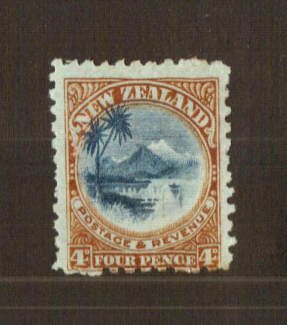 NEW ZEALAND 1898 Pictorial 4d Taupo in very fine never hinged condition. - 74760 - UHM image 0