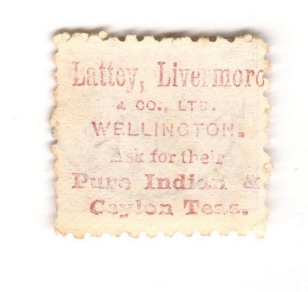 NEW ZEALAND 1882 Victoria 1st Second Sideface 2d Mauve. Perf 10. Secnd setting. Lattey Livermore & Co Ltd. Wellington Ask for th image 0