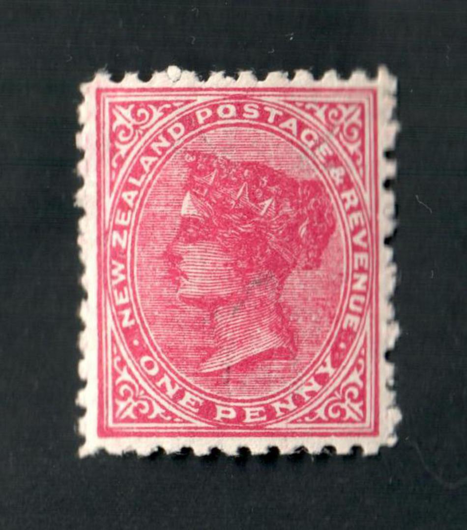 NEW ZEALAND 1882 Victoria 1st Definitive 1d Red. - 28 - LHM image 0