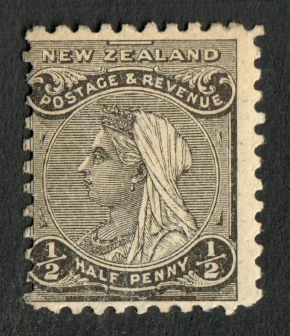 NEW ZEALAND 1882 Second Sideface ½d Grey-Black. Rotary Perf 11. - 4214 - Mint image 0