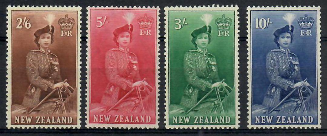 NEW ZEALAND 1953 Elizabeth 2nd Definitives. The high values. Set of 4. - 24776 - LHM image 0