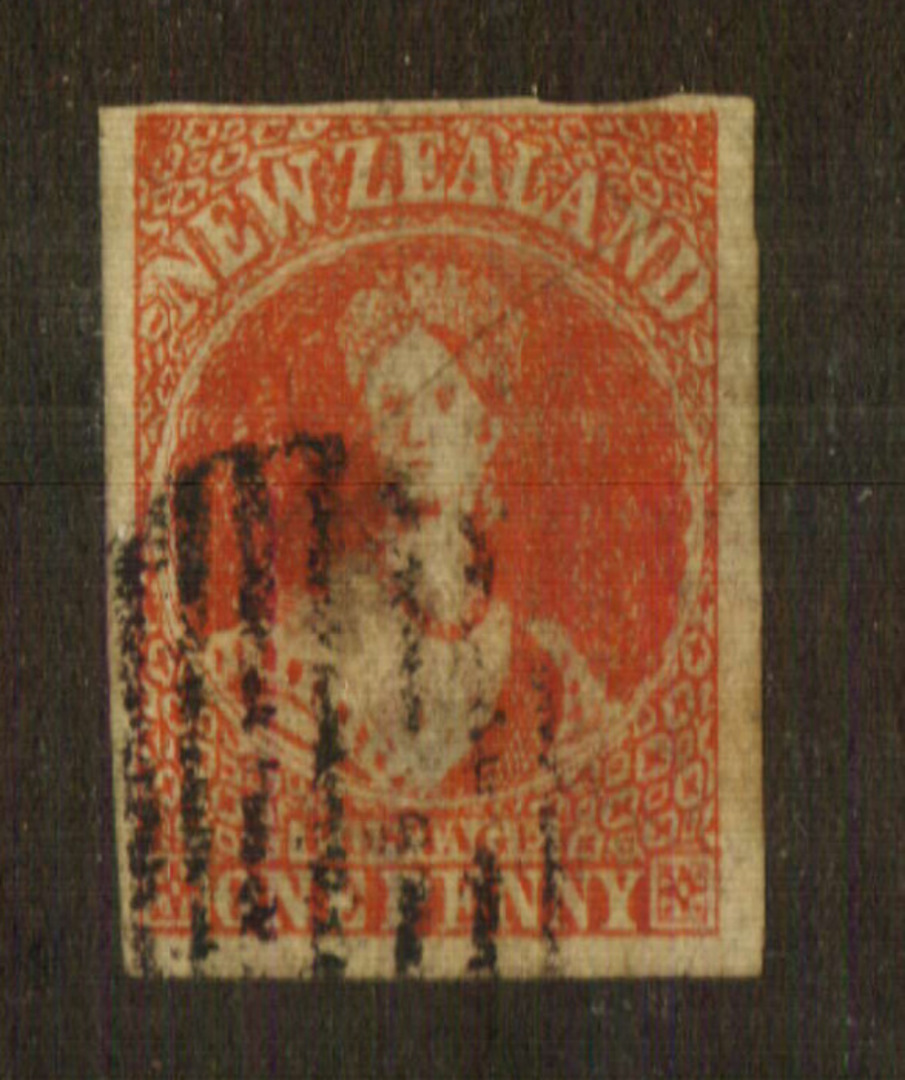 NEW ZEALAND 1862 Spiro Forgery of SG 33 1d Carmine. Very fine copy. - 74063 - FU image 0