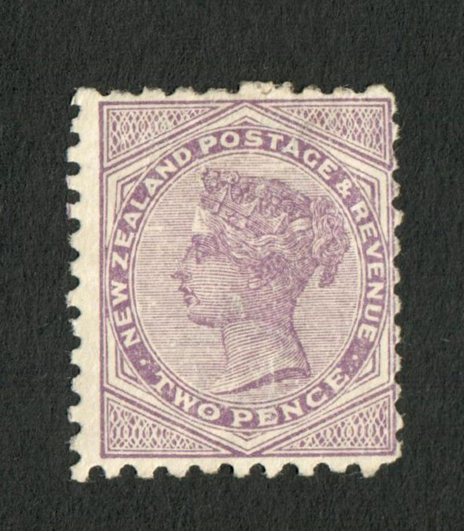NEW ZEALAND 1882 Second Sideface 2d Purple.  Rotary Perf 10x11. - 4211 - Mint image 0