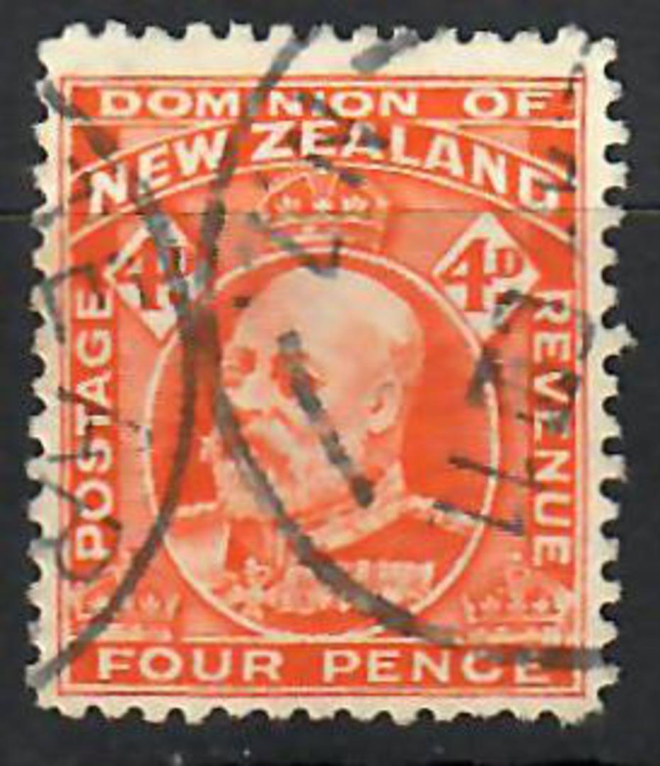 NEW ZEALAND 1909 Edward 7th Definitive 4d Orange. Perf 14 line. - 70473 - FU image 0
