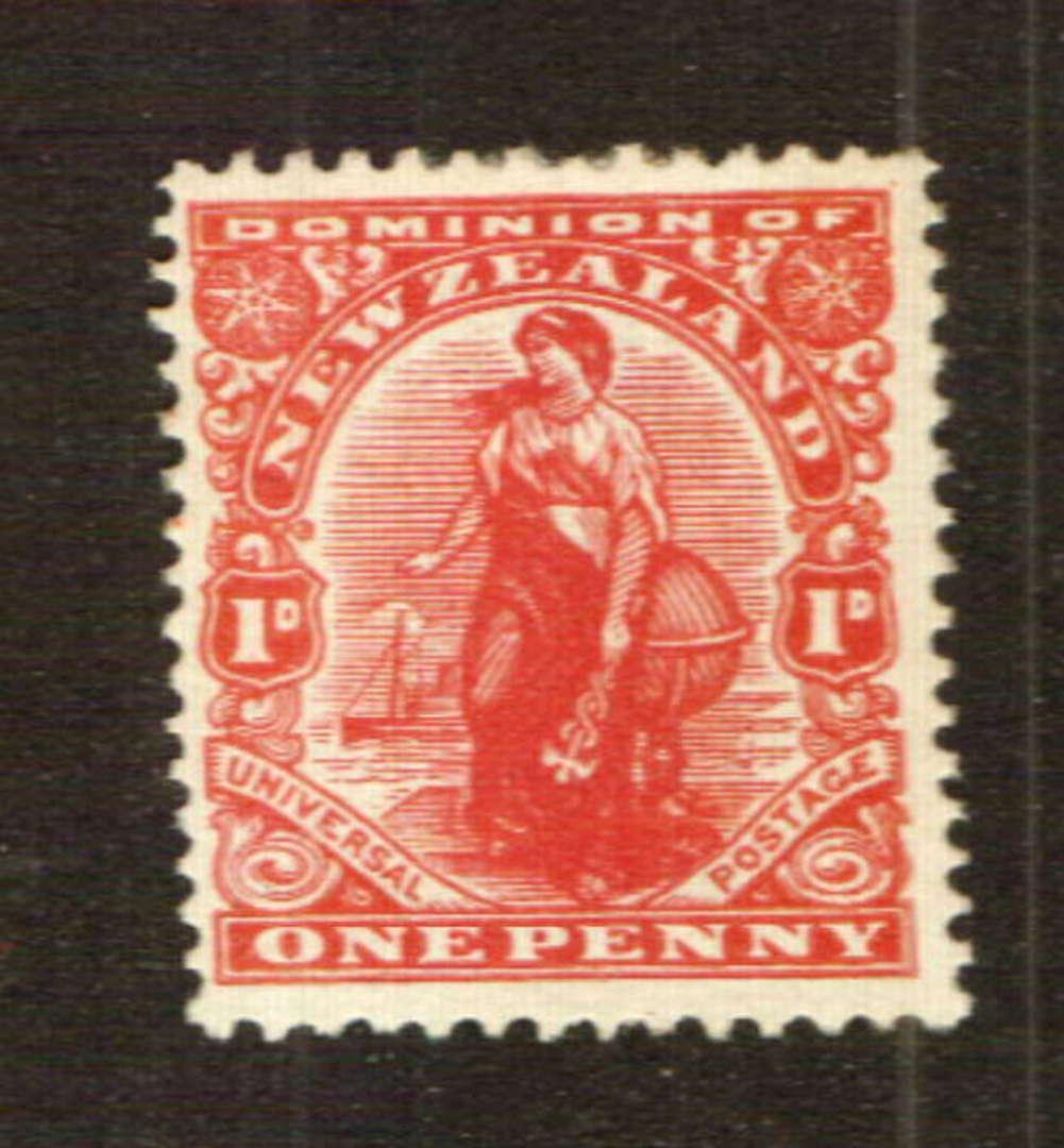 NEW ZEALAND 1926 1d Dominion. Jones paper. - 74765 - LHM image 0