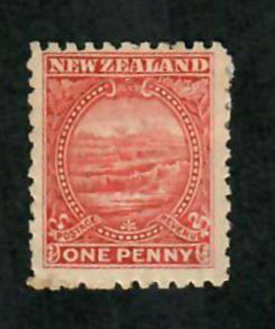 NEW ZEALAND 1898 Pictorial 1d White Terraces Crimson. CP E3a(1). - 74160 - Mint image 0