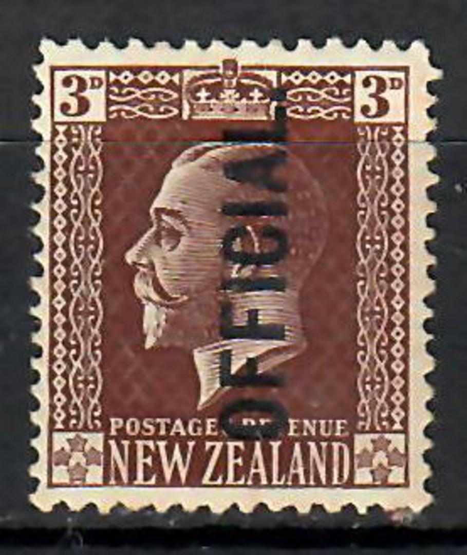 NEW ZEALAND 1915 Geo 5th Surface Official. 3d Gum disturbance. - 70651 - Mint image 0