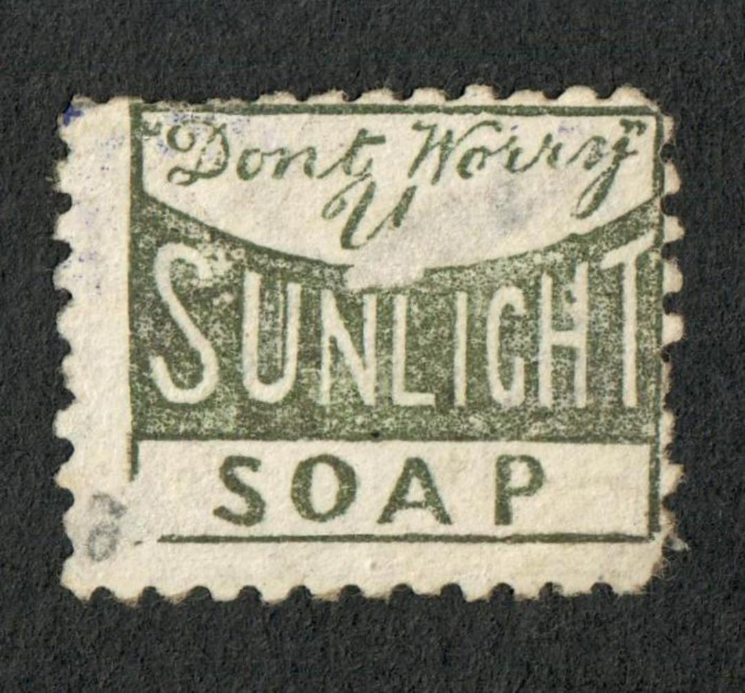 NEW ZEALAND 1882 Victoria 1st Second Sideface 2d Lilac. Perf 10. Advert in Green. Don't worry Sunlight Soap. - 3993 - Used image 0