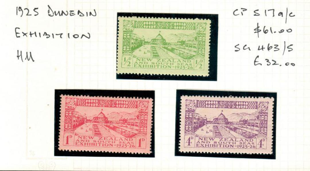 NEW ZEALAND 1925 Dunedin Exhibition. Set of 3. - 24016 - Mint image 0