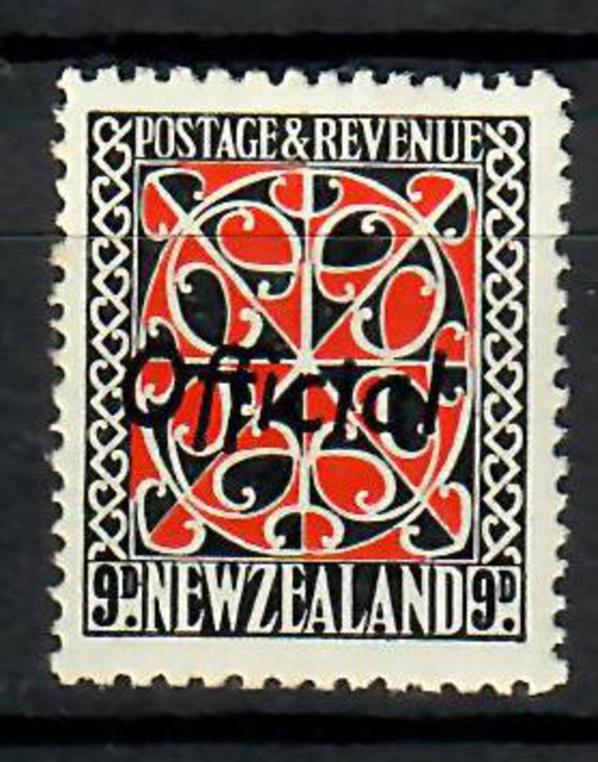 NEW ZEALAND 1935 Pictorial Official 9d Scarlet and Black with Black overprint. - 70457 - UHM image 0