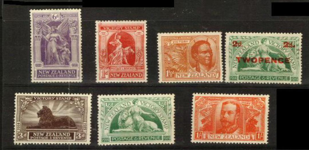 NEW ZEALAND 1920 Victory. Set of 7. - 24017 - UHM image 0