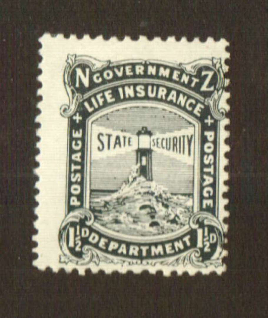 NEW ZEALAND 1905 Government Life 1½d Black. - 74734 - Mint image 0